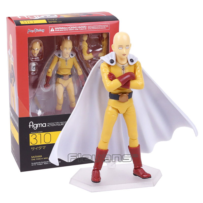 ONE PUNCH MAN Saitama figma 310 PVC Action Figure Collectible Model Toy 14cm super sonico supersonico movable figma figma ex 023 pvc action figure collectible model toy children toy gift with box