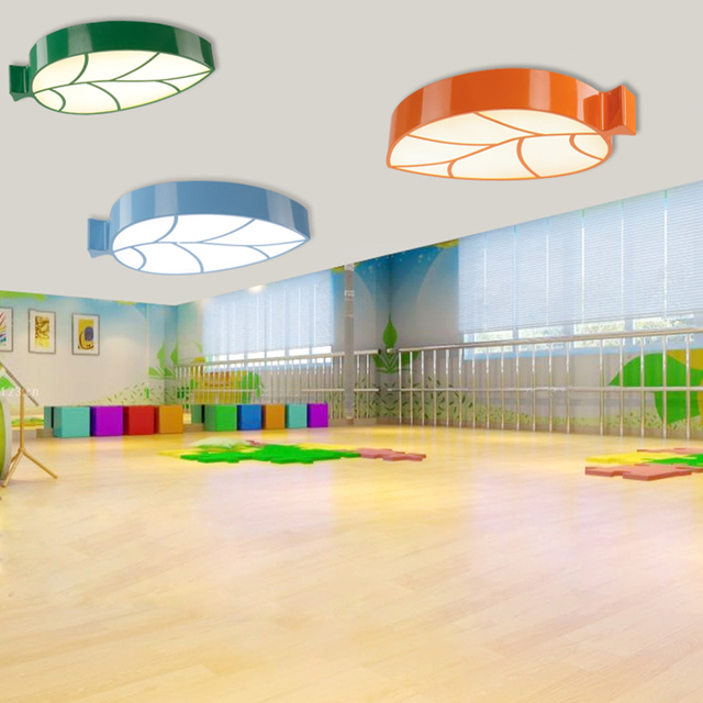 Children lamp creative cartoon amusement park childrens clothing shop childrens room ceiling lights leaves kindergarten