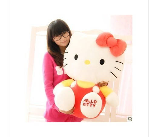 NEW STuffed animal red hello kitty  about 68cm plush toy 26 inch soft Toy birthday gift wt946 new arrival tamino maita scratch cat plush toy stuffed cool unhappy kitty black white gray color 40cm 50cm freeshipping gift