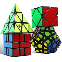 4 Pcs/set 3x3x3 4X4X4 Magic Cube Megaminx Professional Speed Magic Cubes Training Brain Toys Gifts Educational Toys For Children