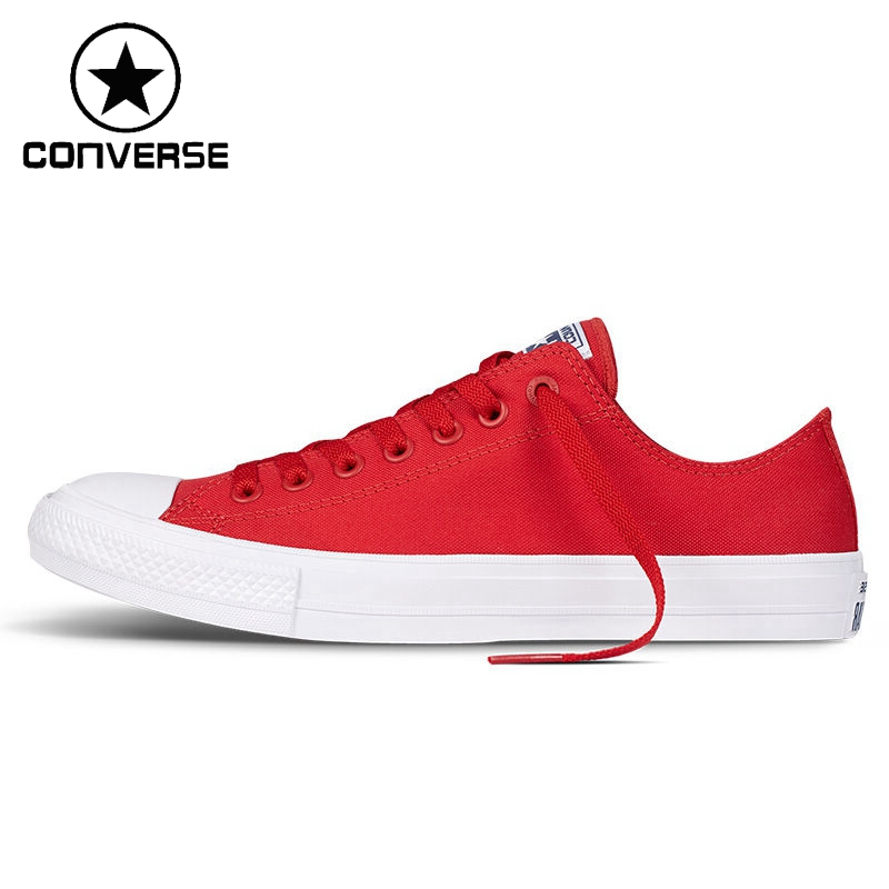 Original Converse Chuck Taylor ll Unisex Skateboarding Shoes Canvas Low top Sneakers canvas shoes lace up sneakers athletic original design skull bird house white converse black chucks taylor men women pumps