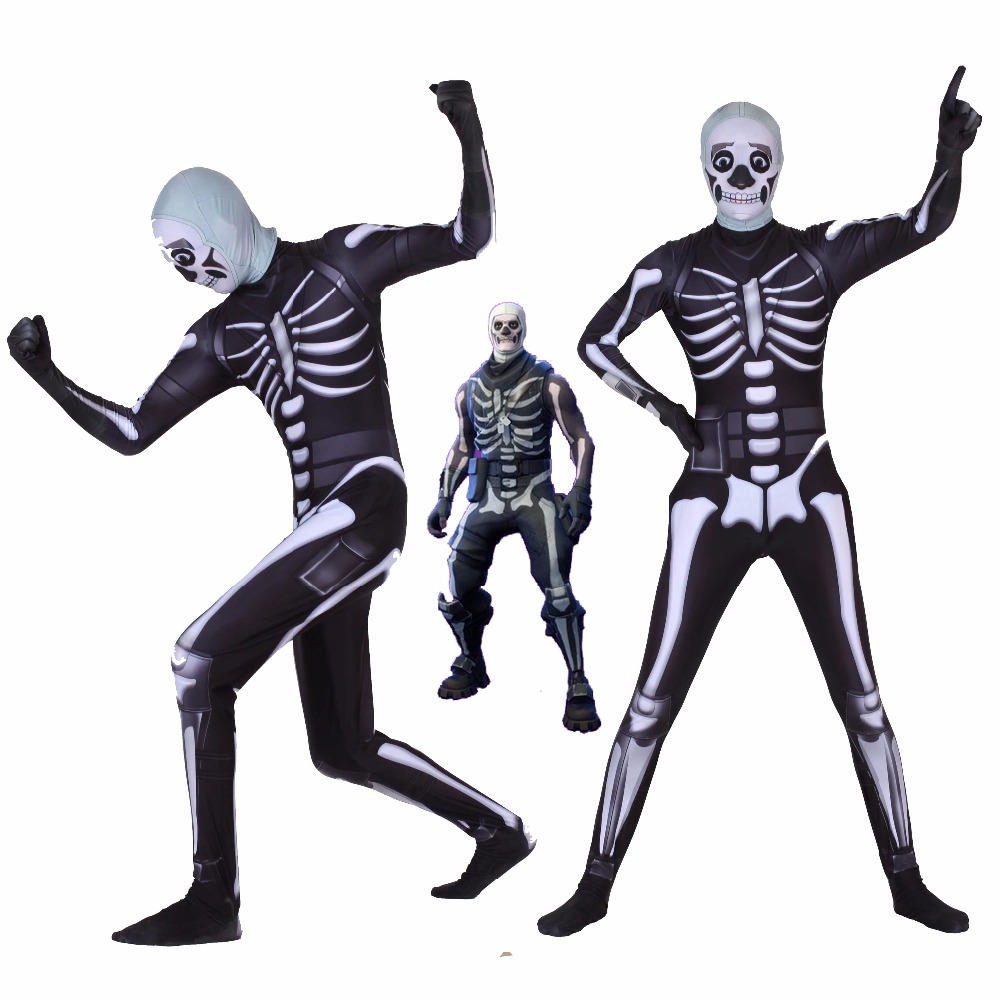 Halloween Saints' All Hallows' Day fortnite skull trooper Human skeleton Cosplay