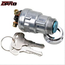 TDPRO 3 Position Motorcycle Ignition Starter Key Switch 2 Keys Universal For Scooter Quad Mower Car Boat Go Kart ATV UTV Pitbike