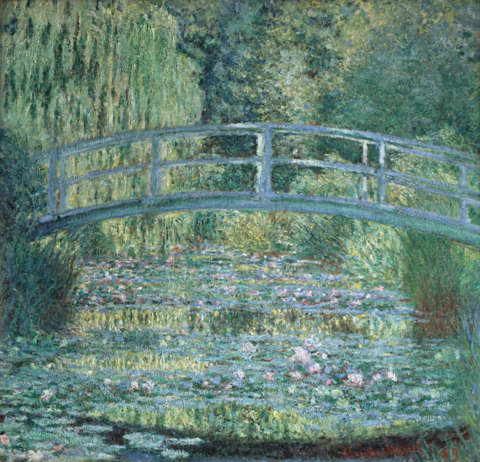 High Quality Master Painting Landscape The Japanese Bridge by Claude Monet Handmade Canvas Wall Decoration