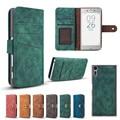 2 em 1 wallet leather case com suporte de cartão magnético móvel saco do telefone case for sony xperia xz x destacável compacto de volta cobrir