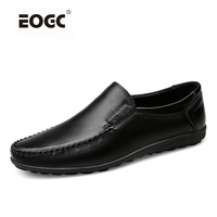 Handmade Plus Size Men Flats Shoes High Quality Men Casual Shoes Lace Up Loafers Moccasins Driving