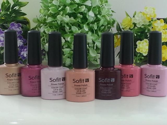Colores polaco ultravioleta del Gel Sofit Soak Off Gel UV 7.3 ml ...