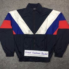 2016 spring summer Gosha Rubchinskiy classic Navy Tricolor Long sleeve windbreaker jacket