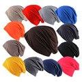 VOBOOM 10 Cores Sólidas de Empilhamento Malha Desleixo Chapéu Para Os Homens mulheres Fino Tamanho Livre Casual Outono Inverno Rua Cap Gorro MZ027