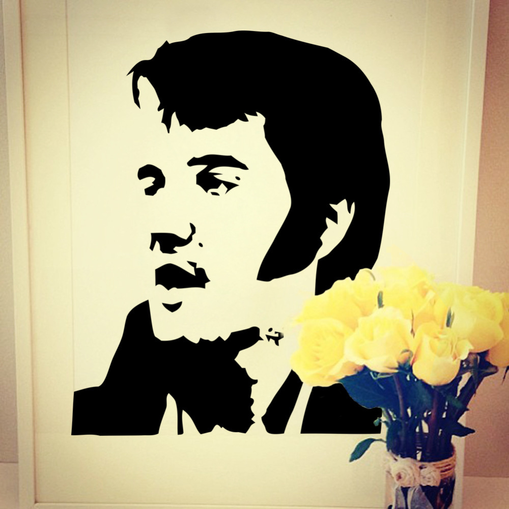 popular wall mural stencils buy cheap wall mural stencils lots new 2015 wholesale elvis presley wall mural art sticker stencil decal home decoration free shipping 73