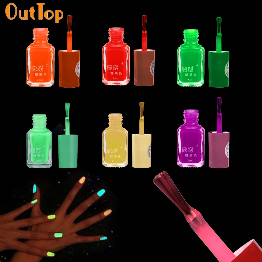 Fluorescent Neon Pink Nail Polish: OutTop Nail Polish ColorWomen 20 Color Choice Fluorescent