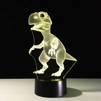 Baby Дети Night 3D лампа Светодиодное освещение Цвет изменения привели маленького динозавра ночник украшения дома номер Best ребенок подарок