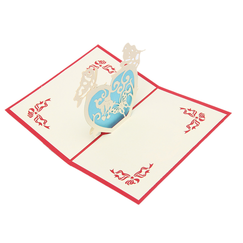 Aliexpress.com : Buy 3D Love Heart Greeting Card Pop Up