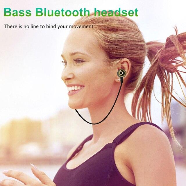 MoreBlue N64 Wireless Bluetooth Headphones Super Bass Earphones Sports Headset Sweatproof Cordless Earbuds Handsfree With Mic