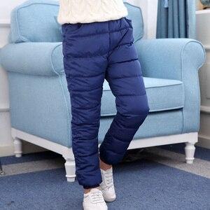 Image 4 - 8 15 t Chàng Trai & Cô Gái Bông Quần Mùa Đông Ấm Xuống Bông Quần Cho Trẻ Em Bình Thường Rắn Thicking Outwear quần Chất Lượng Cao