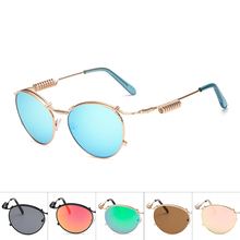f0efc3661b New Sunglasses Punk Steam Crown Mirror Metal Oval Frame Double Spring Glasses  Frame Sunglasses for Men