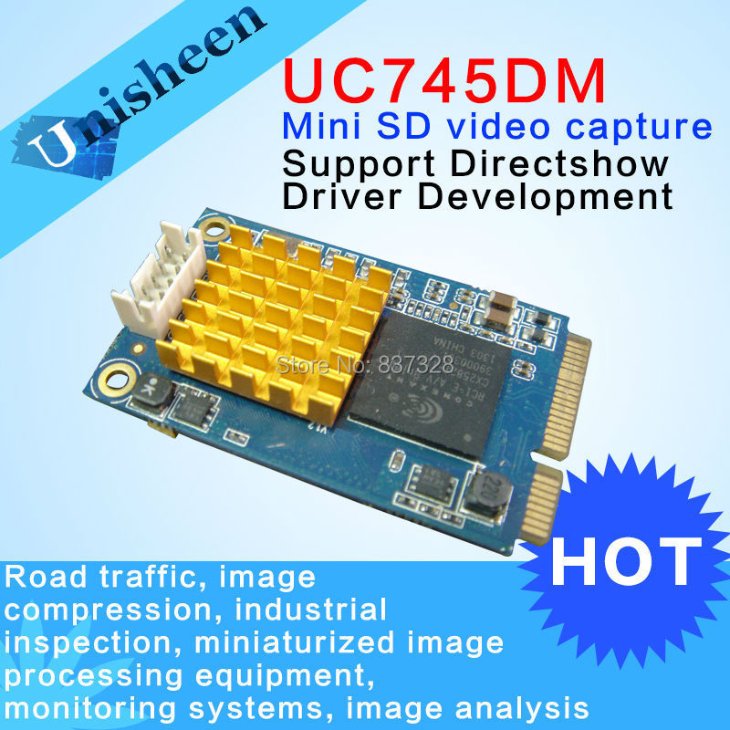 UC745DM Mini PCIe Video Capture Card  4xBNC  SDK industry avermedia darkcrystal hd capture sdk duo c129 up to 1080p30 i60 hdmi component s video composite with complete sdk