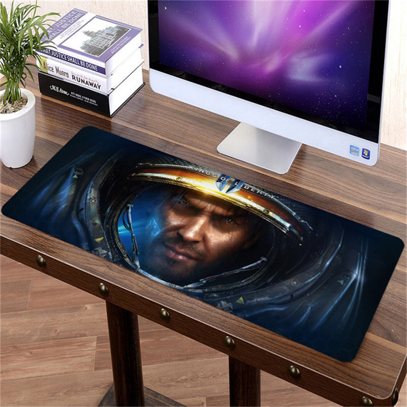 80x30cm Large StarCraft 2 Mouse pad Gaming Mousepad Gamer Big Grande XL Locking Edge MousePad for strategy Gamer Anime Mouse Ma