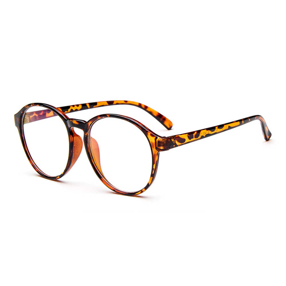 Fashion Personality Round Frame Classic TREND Spectacles with Optical Lenses or Photochromic Gray / Brown Lenses