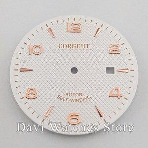 Image 3 - Corgeut/Steril Sıcak satış 35.6mm İzle Dial Fit ETA 2836, Miyota 8215 8205 821A Hareketi