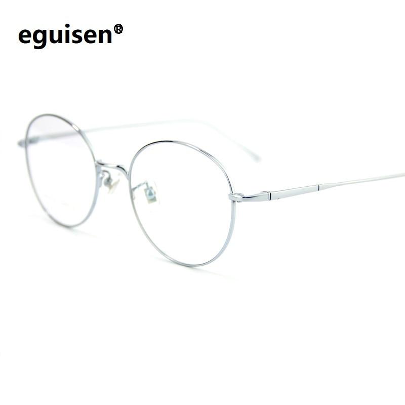 6b88d73ca872 width-135 Pure titanium vintage woman spectacle frame ultra-light circle  round-framed female fashion eyeglasses frame male men