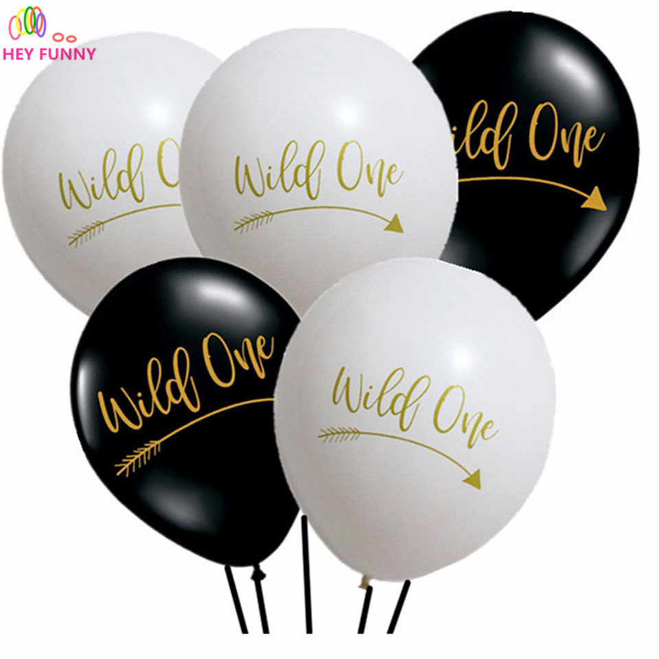 15pcs 10nch latex letter balloons Wild One Birthday Party Decor Letter Balloons First Birthday Party Banner baby Shower Supply