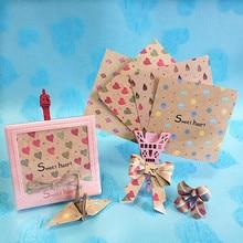 120 шт. антикварные узор 7.5 см оригами краны Бумага оригами Скрапбукинг Материал ручной работы Бумага конфетти DIY Lucky Star сердце