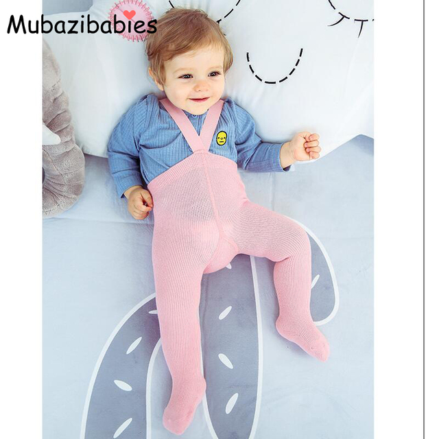 f87bdf801e2 Mubazibabies Autumn and Winter Baby Cotton High Waist Pantyhose Protect the  navel Children s Suspender Tights Kids Tights