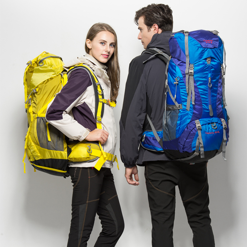 CREEPER large size big capacity outdoor backpack cool outdoor backpack yellow blue for men and women high end hiking bag quality daisy and the big yellow kite