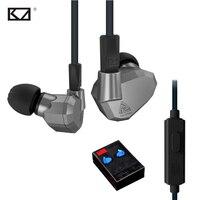 KZ ZS5 Fone Suporte de Celular Universal Phone Earphone Mic Earphones Sport 8Drivers Hybrid Dynamische Dynamic Balanced Armature