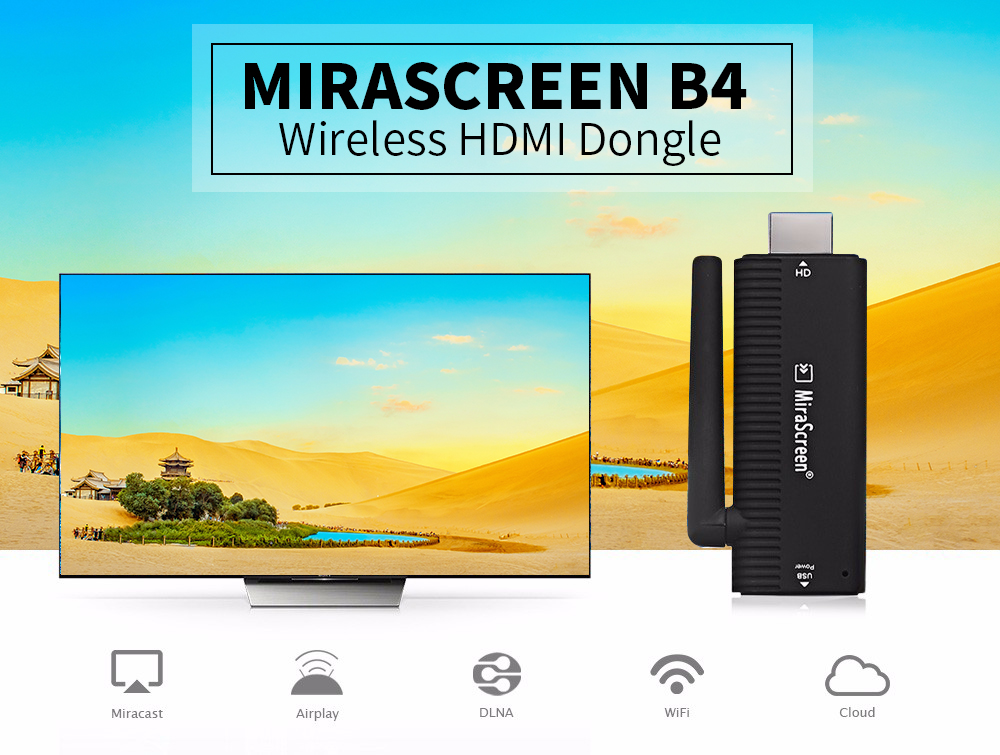 2018 New TV Stick MiraScreen B4 for Google Chromecast 2 Chrome Cast Support HDMI Miracast HDTV Yoube Display Dongle