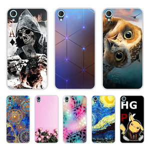 Image 1 - Cover Case For HTC Desire 820 Soft Silicone TPU Fashion Pattern Painted Back Cover For HTC Desire 820 Phone  Cases