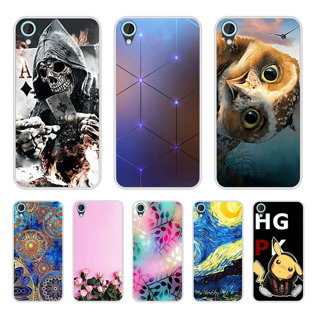 Cover Case For HTC Desire 820 Soft Silicone TPU Fashion Pattern Painted Back Cover For HTC Desire 820 Phone  Cases