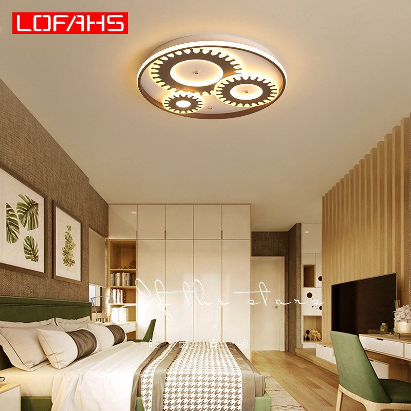 LOFAHS современный акриловый винтажный светодиодный потолочный светильник промышленная традиционная потолочная лампа для гостиной столовой