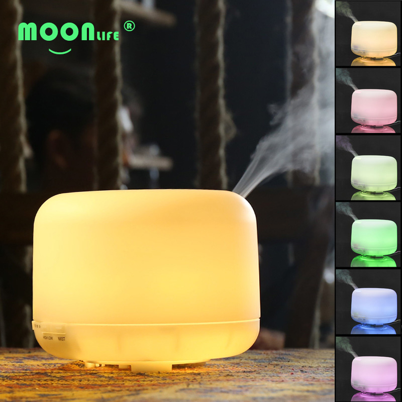 ФОТО 500ml 7 Color Dry Protect Diffuseur Huile Essentiel Ultrasonic Essential Oil Aroma Diffusser Air Humidifier Mist Maker