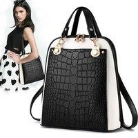 Women Handbag Cross Body Zipper Shoulder Bags Back Pack Alligator Leather New Lady Keys Phone Messenger Envelope Tote Bags Purse