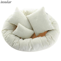 4 PCS/Set Baby Photography Costume Wheat Donut Posing Props Baby Pillows Ring Newborn Photography Props Basket Filler