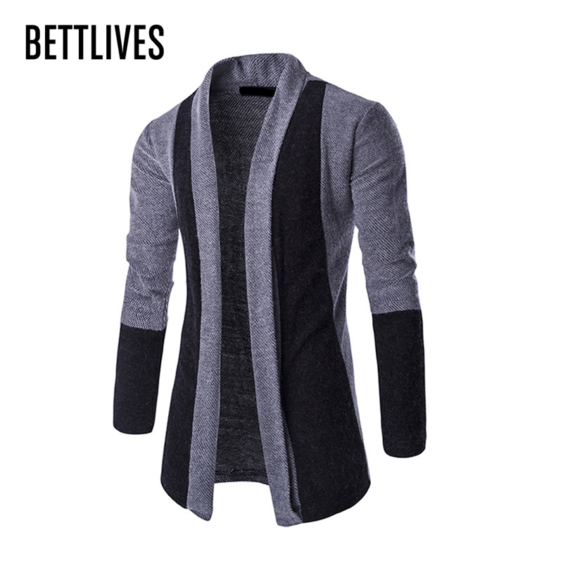 Zemtoo Mens Patchwork Fashion Men Sweater Cardigan Masculino Slim Fit Casual Long Sleeve Cardigan With Shawl Collar Outerwear
