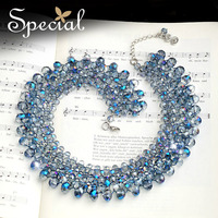Special New Fashion Big Chunky Necklaces Summer Style Crystal Choker Necklace For Women Luxury Jewelry Gifts