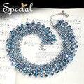 Специальный новинка большой коренастый ожерелье кристалл макси ожерелье для женщин роскошь себе ожерелье для девочек XL150714