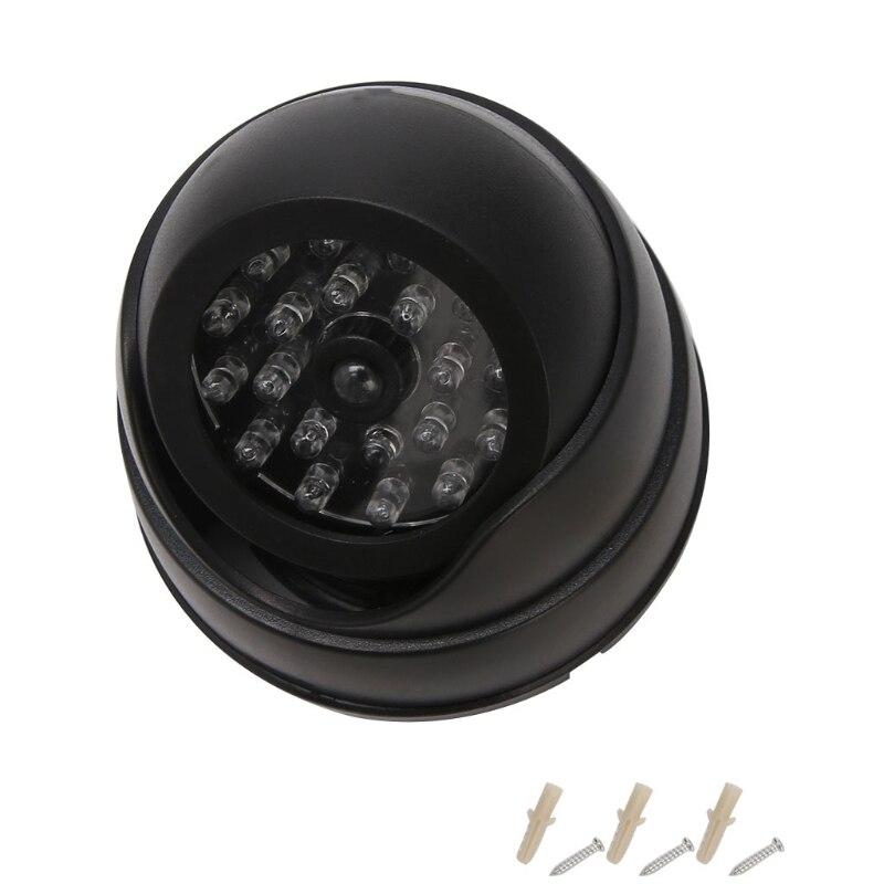 Dummy Imitation Dome CCTV Security Camera False IR 20 LEDs Flashing Red Light
