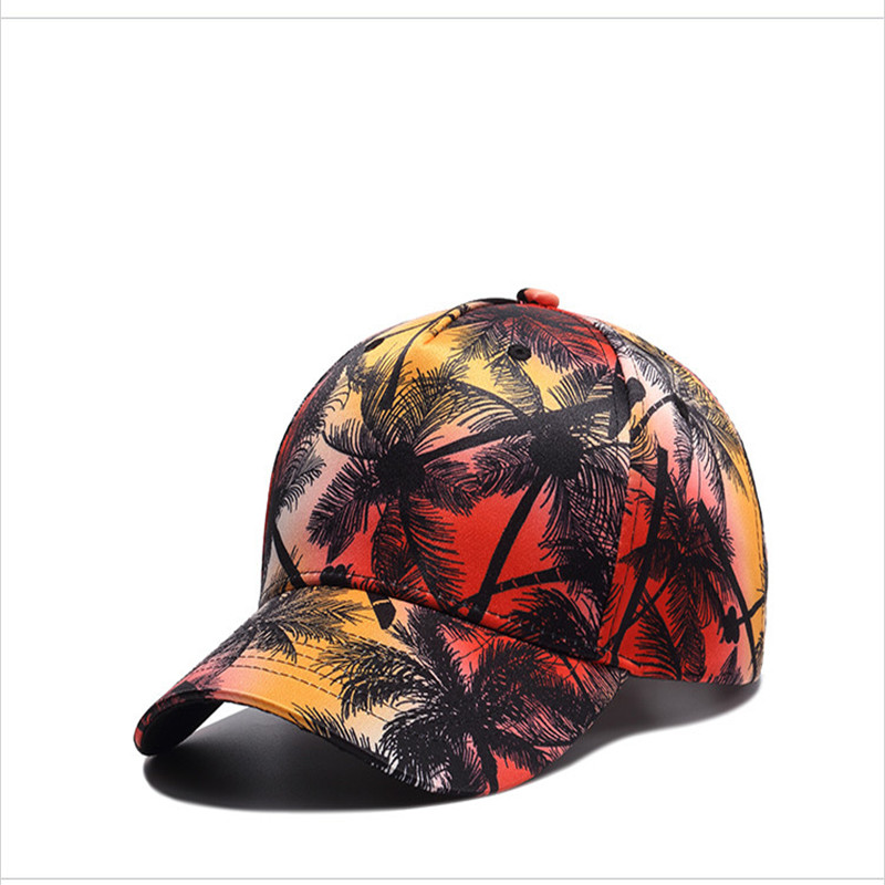 New 3D PrintCoconut Trees Beach Baseball Cap Unisex Hiphop Hats Snapback Caps Holiday Leisure gorras de beisbol Men Women Sunhat
