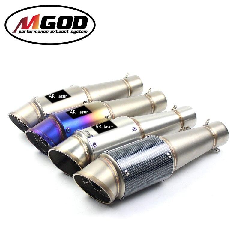 51 MM moto tuyau d'échappement universel silencieux AR laser échappement avec db tueur pour Honda cb650f yamaha xmax 300 suzuki gsr 600