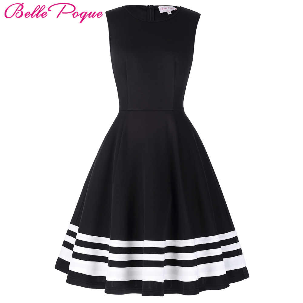 ff800084d315 ... 2018 Retro Vintage Sleeveless Black White Print 50s 60s Vintage Dresses  Audrey Hepburn Rockabilly Womens Clothing on Aliexpress.com | alibaba group