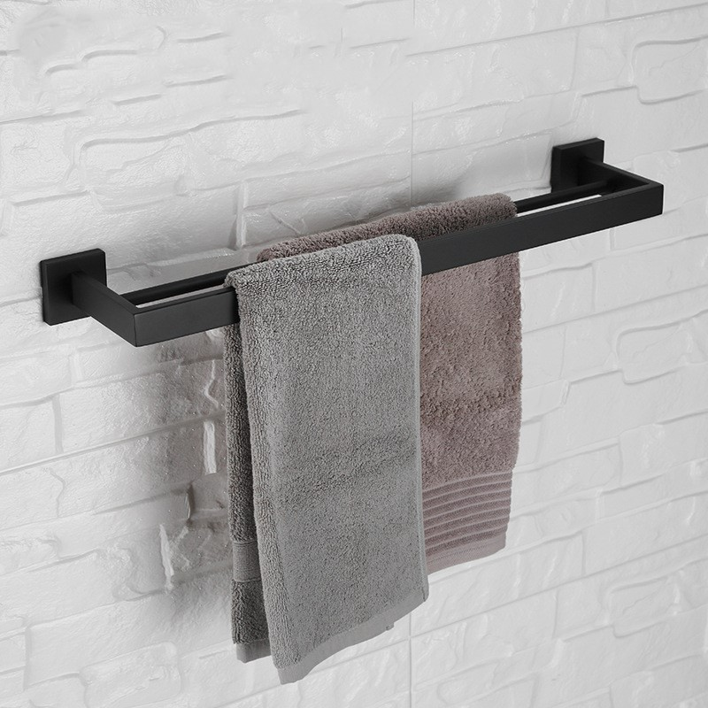 Matte Black 600mm Bath towel rack square stainless steel Towel bar fashion towel holder--MS343Matte Black 600mm Bath towel rack square stainless steel Towel bar fashion towel holder--MS343