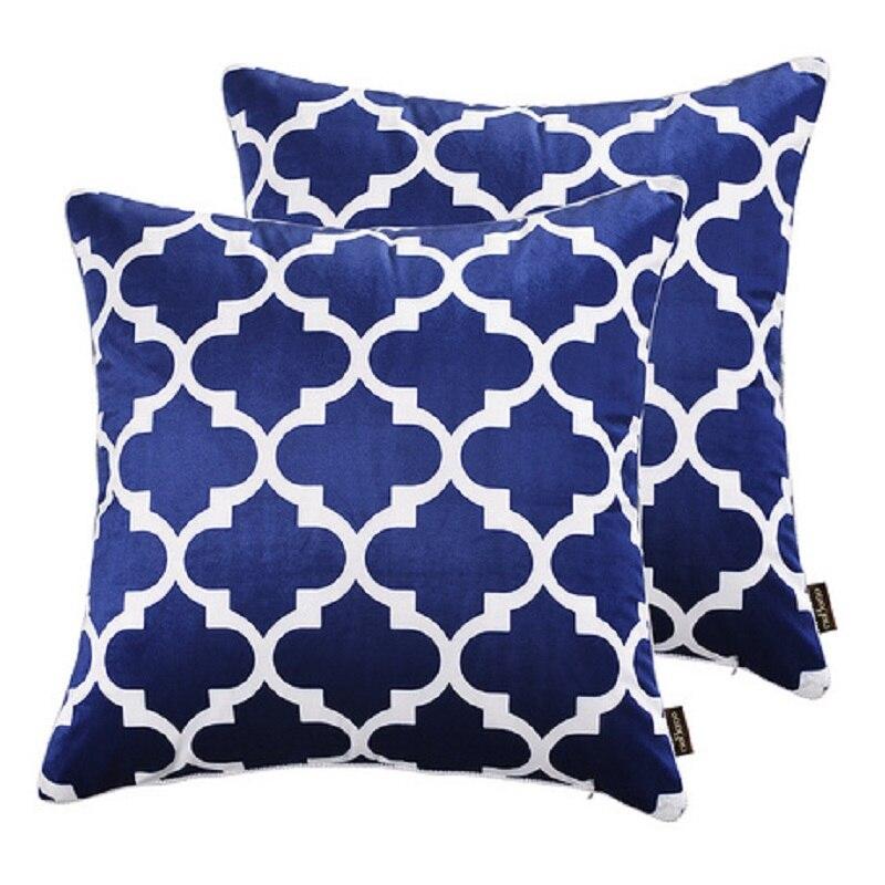 Новые бархатные 45*45 см квадратный Чехлы для подушек красный, желтый, BLE, черный диван Пледы Подушки Обложка для дома, автомобиль, офис декорат...