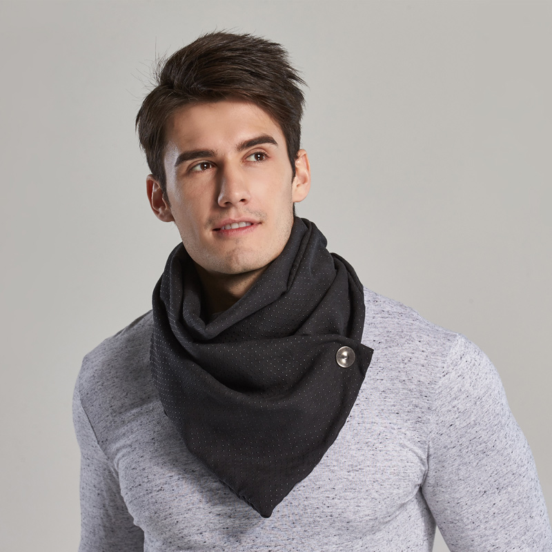 Couverture Brand Luxury Fashion Men Infinity Circle Loop Scarf Winter Poncho Simple Designer With Snaps Face Mask Echarpe
