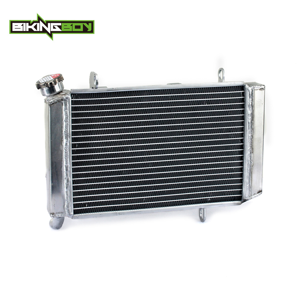 BIKINGBOY Aluminium Core Motorcycle Dirt Bike ATV Quad Radiator Cooling Cooler for KAWASAKI KFX 400 KFX400 2003 2004 2005 2006