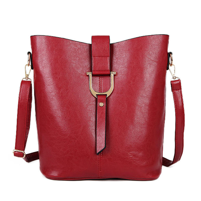 Famous Brand Women Messenger Bags Crossbody bags Fashionable Casual Shoulder Bag Set PU Leather Composite Bag Female Burgundy