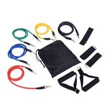 11 Pcs Resistance Band Set Workout Exercise Strap Door Anchor Handle Strength Training Home Workouts elastic rope resistance band set with door anchor ankle strap exercise chart